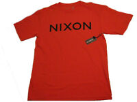 Mens Nixon Short Sleeve Graphic Tee Reds Small