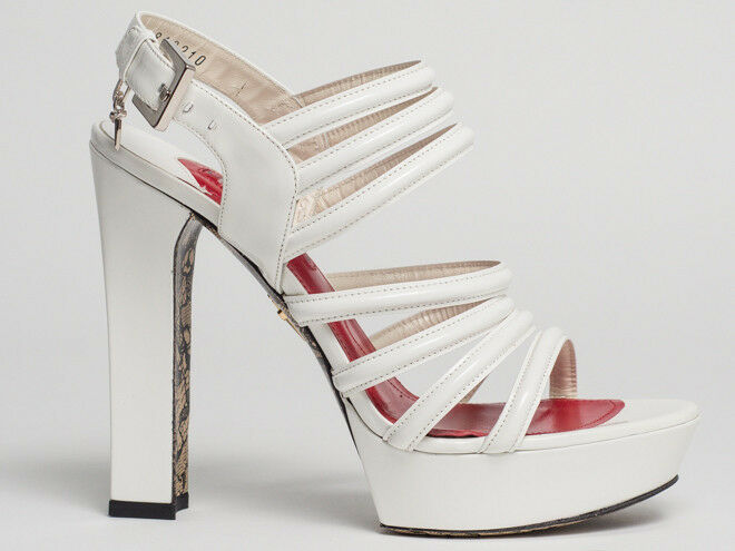 New New New  Cesare Paciotti blanc Patent Leather Sandals Taille 38  US 8 7c1c03
