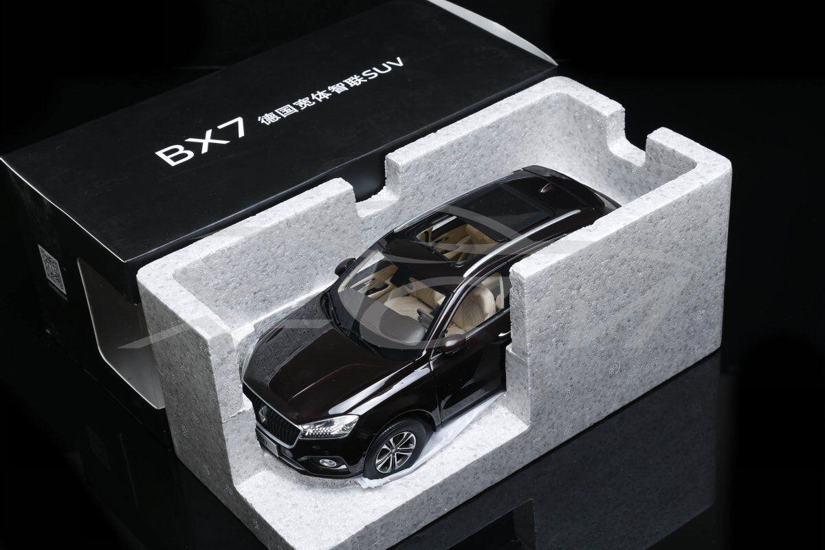 Diecast Modèle De Voiture 1 18  BORGWARD BORGWARD BX7 SUV Limited Edition (Marron) + cadeau  pour pas cher