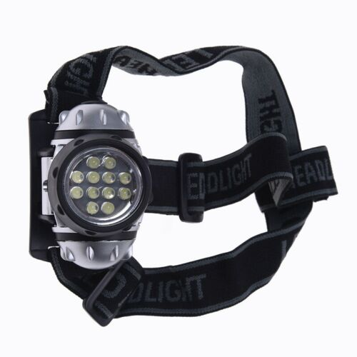 Stirnlampe 12 LED Kopflampe Headlamp Zoomable Weiss wasserdicht Angeln K4U8