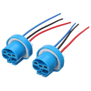 2x 9007 9004 female wire connector wiring harness pigtail plug rh ebay com Wall Socket Wiring Diagram Wiring a Outlet Plug