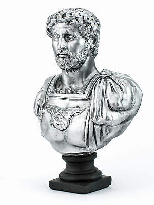 Römer Statue Augustus Kaiser Büste Bronzefarben Forum Traiani