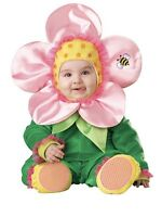 In Character Baby Blossom Costume Size:12-18 Month Medium Green Pink Yellow