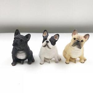 3X-Little-Cute-French-Bulldog-Ornament-Dog-Figure-Figurine-Model-Gift-Present-US