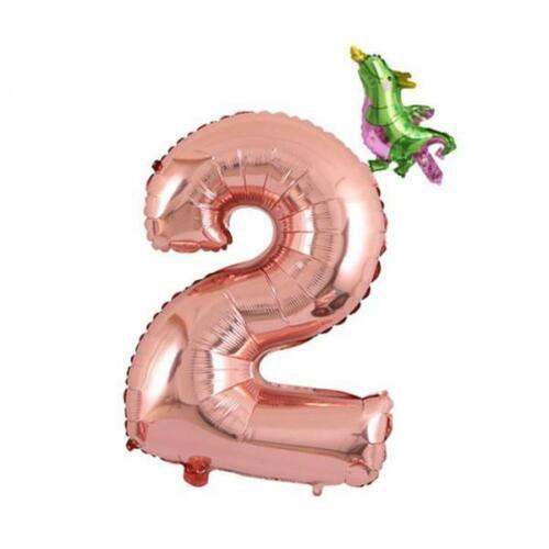 0 9 Mini Green Dragon Ballon Helium 32 Zoll Giant Rose Gold Anzahl