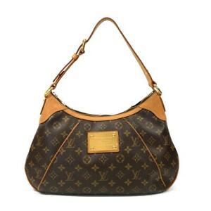 LOUIS-VUITTON-Thames-GM-shoulder-bag-M56283-Monogram-Canvas-Brown-Used-LV