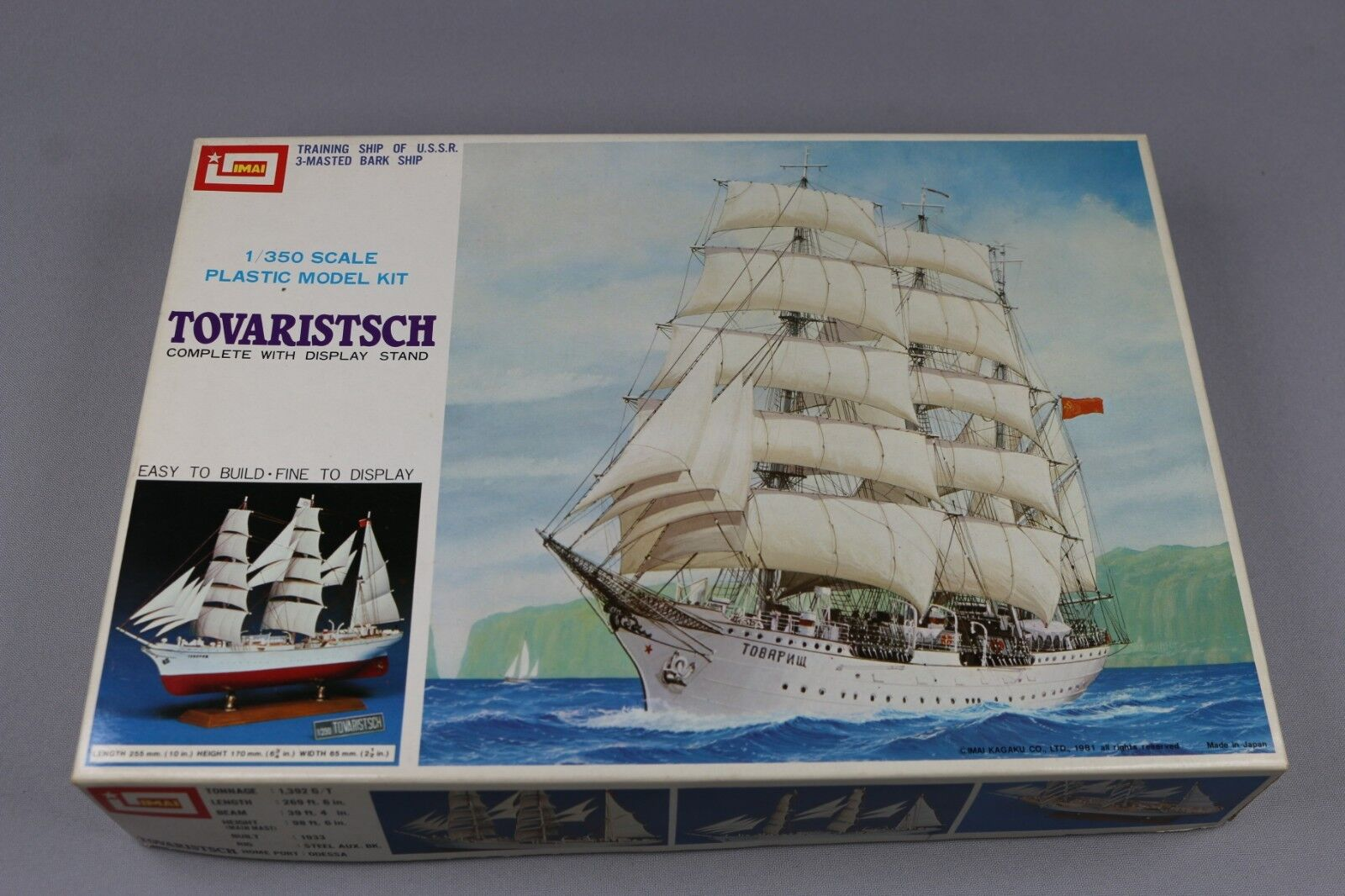 Zf939 Imai 1 350 Maqueta Barco B-940 Tovaristsch Training Ship USSR 3 Masted