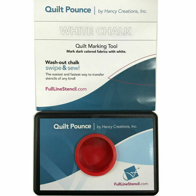 Blue Hancy 4-Ounce Quilt Pounce Pad with Chalk Powder