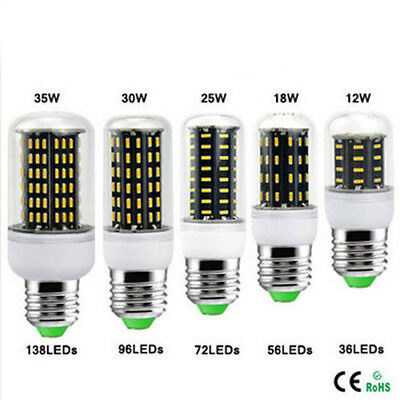 NEW E14 E27 25W 30W LED 36/56/72/96/138 LED 4014 SMD Cover Corn Light Lamp Bulb