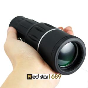 Dual Focus 16x52 Monocular HD Telescope Prism Spyglass Scope52mm  Night Vision