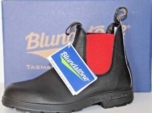 4ebaf0c2ac614 Caricamento dell immagine in corso Blundstone -Scarpe-Uomo-BCCAL0020-SIDE-BOOT-BLACK-RED-