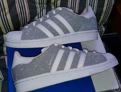 white trainers with sparkle