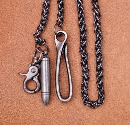 """30/"""" Heavy Duty Biker Trucker Bullet Twisted Keychain Keyring Jean Wallet Chain"""