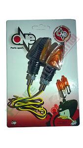 à Condition De One Coppia Frecce Arrow Carbon Gambo Corto Omologate Moto Indicators Honda Sensation Confortable