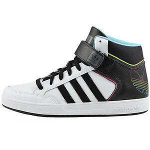 adidas varial mid herren schuhe sneaker leder skaterschuhe wei schwarz neu ebay. Black Bedroom Furniture Sets. Home Design Ideas