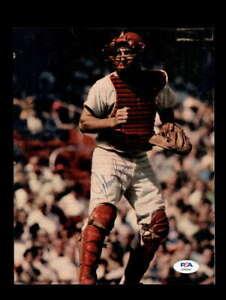 Johnny Bench PSA DNA Coa Signed 8x10 Vintage 1970`s Reds Photo Autograph