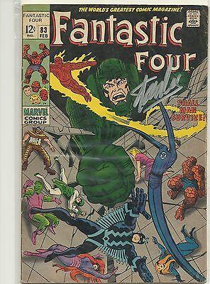 Offensichtlicher Effekt spider-man, The Avengers Stan Lee Signiert Fantastic Four #83 Comicbuch