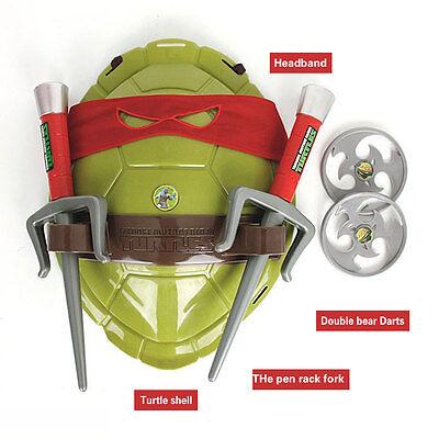 Teenage Mutant Ninja Turtles Weapons Armor Shell Children Cartoon Toys Gift Red