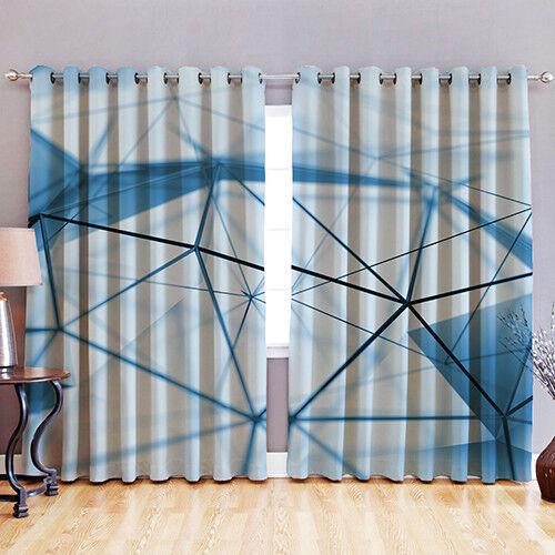 """Prism 52/"""" X 72/"""" tissu occultant 3D Imprimé rideau à œillets et fenêtre"""