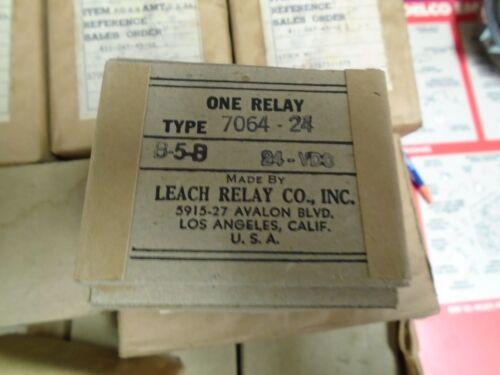vintage leach relay type b5b 24v dc  7064-24