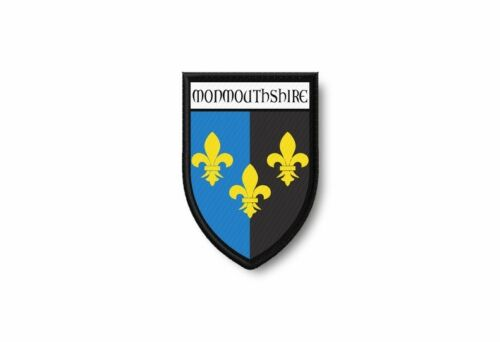 Patch printed shield embroidery border badge souvenir flag county monmouthshire