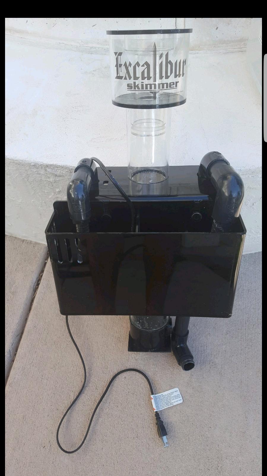 Excalibur Protein Skimmer Rio 800 pump Saltwater Acrylic Sump Filter Overflow