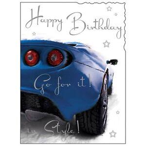 Birthday Card Male Sports Car Luxury Card Top Quality Nicest