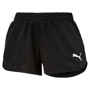 PUMA Damen ESS NO.1 Leggins W Pant Hose Pants Fitnesshose Black-Silver