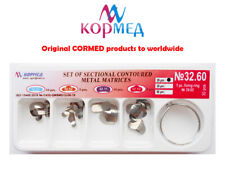 A Dental Kit Of Metal Sectional Contoured Matrices 30 Pcs 4 Types