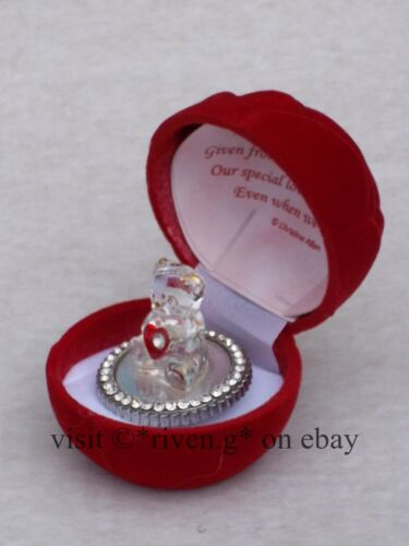 VALENTINES RED ROSE BOX I LOVE YOU Verse@Glass@LOVING CRYSTAL Red Heart@Mirrored