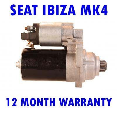Seat ibiza mk4 mk iv 2003 2004 2005 2006 2007 2008 starter motor
