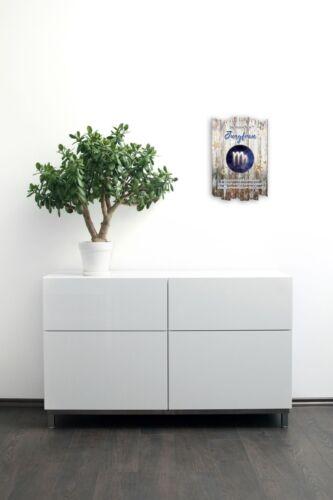 Wandbild Sternzeichen Jungfrau Shabby aus Holz mit Spruch und Motiv Wand-Deko