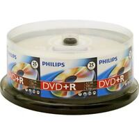25-pk Philips Branded 16x Dvd+r Blank Recordable 4.7gb Media Disk Dr4s6b25f/17