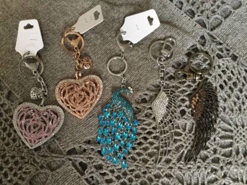 You choose Style Rhinestone Key Ring Handbag Charms New