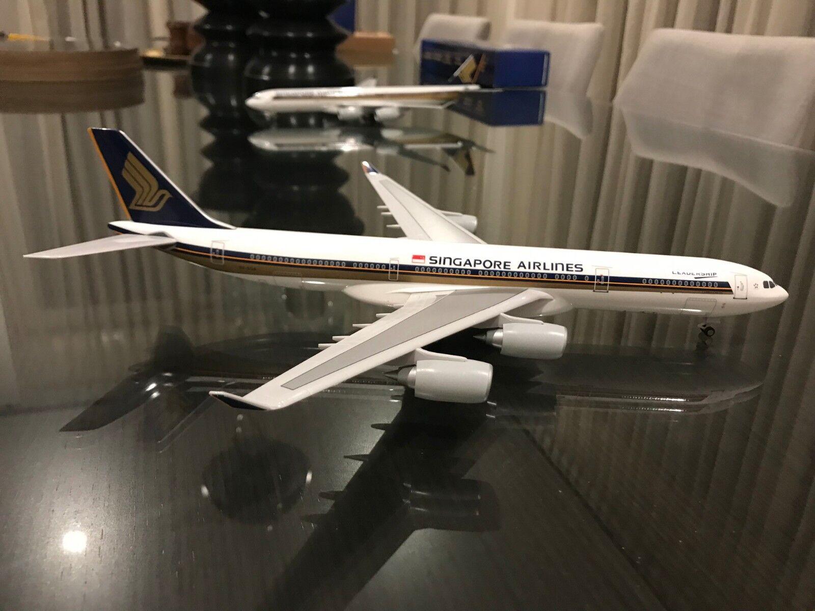 RARE - Singapore Airlines A340-500 1 200  LEADERSHIP   - 9V-SGA - Skymarks