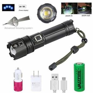 Powerful-XHP70-XHP90-LED-Zoom-Flashlight-USB-Rechargeable-Tactical-Hunting-Torch
