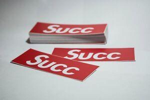 10 SUCC x Supreme Vinyl Stickers