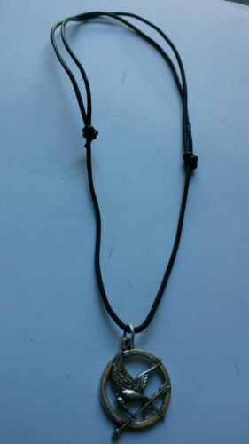 BLACK LEATHER CORD SLIDING KNOT ADJUSTABLE CHOKER NECKLACE TIBETAN SILVER CHARM