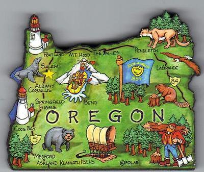 Jumbo Fridge Magnet Souvenir Gift Oregon Mount Hood USA