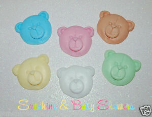 teddy bear faces soaps 5 pack baby shower gift party bag favours