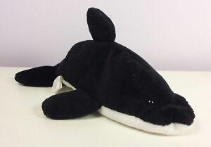 56d332bf2ab Image is loading SPLASH-1ST-GENERATION-TUSH-TAG-Black-Whale-Ty-