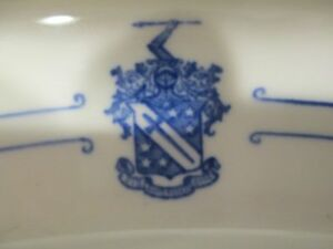 "Phi Delta Theta Fraternity 15"" Platter c1950 hotel chapter house china"