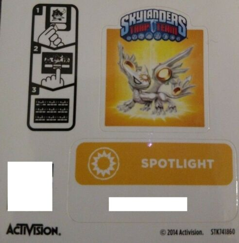Spotlight Skylanders Trap Team Sticker Code Only!