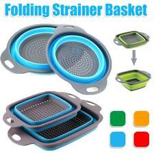 Colander Fruit Vegetable Laundry Basket Strainer Strainer Collapsible B1V1