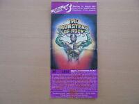 Monsters of Rock 1987  Ticket Pforzheim Deep Purple Ratt Metallica Dio Helloween