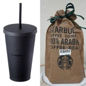 8bff3f147a5 Details about Starbucks Korea Matt Black Flat Cold Cup Coffee Collectible  Tumbler 473ml / 16oz