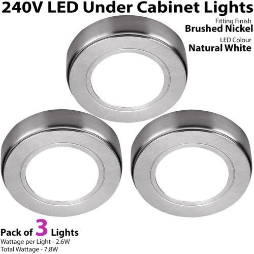 DEL Meuble Cuisine Spots 240V* blanc naturel Surface//Flush Mount Light