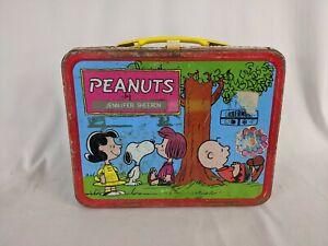 Rare 1973 Peanuts Metal Lunch Box Comic Strip Cartoon Lunchbox Collectible Ebay