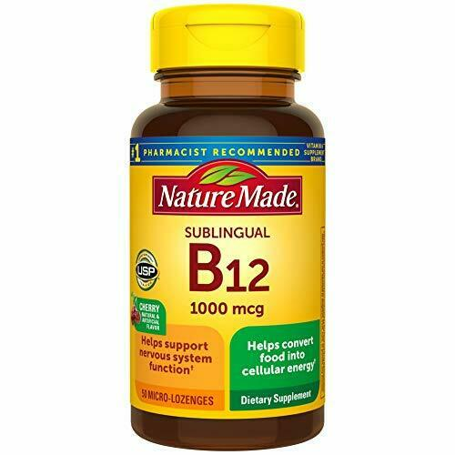 Nature Made Sublingual Vitamin B12 1000 mcg 50 Count (Pack of 1)