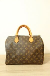 Authentic-Louis-Vuitton-Speedy-30-Hand-Bag-Monogram-brown-4903